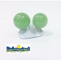Brinco De Esfera Pedra Do Sol/ Ametista/ Quartzo Verde/rosa