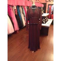 Vestido Fiesta Noche Alta Costura Obssesion Talla 16 $415