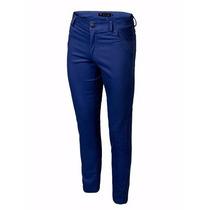 Pantalon Chupin De Gabardina Elastizada