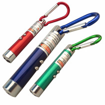 Kit 2 X Mini Laser Pointer 3 Em 1 C/ Led Lanterna Luz Negra