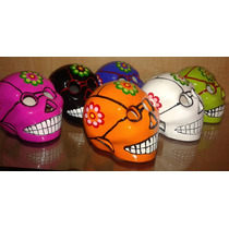 Figura Calavera Halloween Dia De Muertos Craneo 8 Cm Rosa