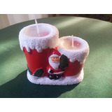 Adornos De Navidad En Ceramica / Velas / Decoracion Navidad
