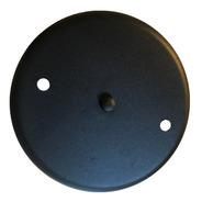 Base Floron De Techo 2 Luz Redonda 17cm Metalico Negro