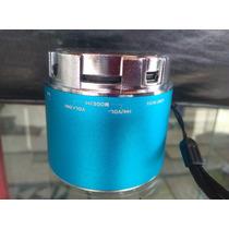 Reproductor Mp3 Usb Con Radio Incorporado Redondo Recargabl