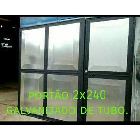Portão De Garagem 2x240 De Abrir