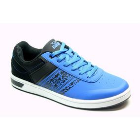 Zapatillas Urbanas Gaelle 2459 Ecocuero Color Azul