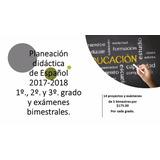 Planeaciones De Español Secundaria 1,2 Y 3 Grado.
