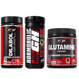 Dilabol 120 Cáps + Hormobolic Gh 100 Tabs + Glutamine 300g