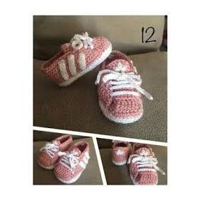 Zapatos Tejidos A Crochet Tipo Tenis