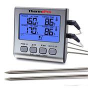 Termómetro Digital Con 2 Sondas Thermopro Tp17 Carnes Timer