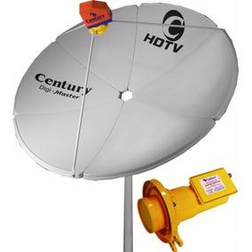 Antena Parabólica Century Chapa Digimaster + Lnbf Super Digi