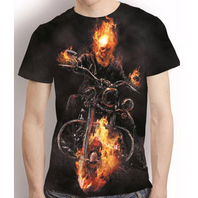 Camisa Motoqueiro Fantasma Camiseta Estampa Total Mod 3