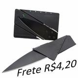 Faca Dobrável Cartão De Credito Canivete Lâmina, Via Carta