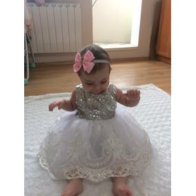 Vestido Elegante Bautizo Presentación Fiesta Princesas 6-12m