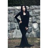 Disfraz Morticia Addams. Hermoso. Adulto