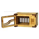 Microondas P/ Barbie Com Portas Que Abrem 6x4x3,5 Mdf Cru