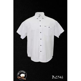 Camisa Para Hombre Blanca 100% Algodon