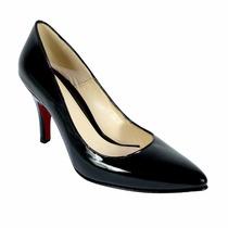 Padrísimas Zapatillas Charol Negro Stilettos Temporada 2016