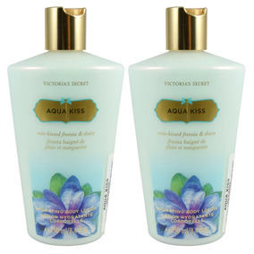 Paquete 2x1 Victoria Secret Aqua Kiss 250 Ml Body Lotion De