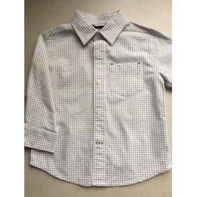 Camisa Casual Marca Gap Gris De Cuadrados