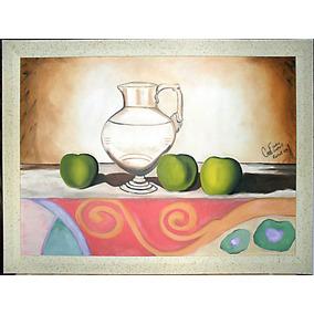 Pintura Al Oleo Sobre Lienzo Con Marco
