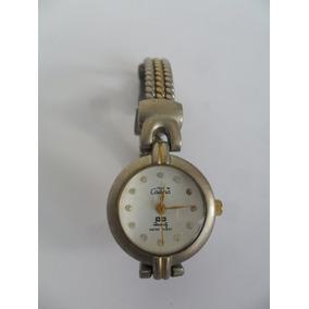 Relógio De Pulso Feminino Cadina Quartz Antigo Prateado