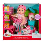 Boneca Little Mommy Bicicleta