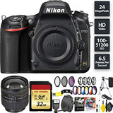 Nikon D750 Dslr Camera (body) + 32gb Memory Card + Nikon 24-