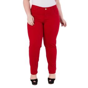 Calça Feminina Skinny Veludo - Plus Size - Skn133