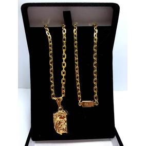 Cordão 60cm Banhado A Ouro 18k Cadeadinho +super Brinde
