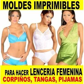 Patrones Imprimibles Pijamas Ropa Intima Damas Lenceria