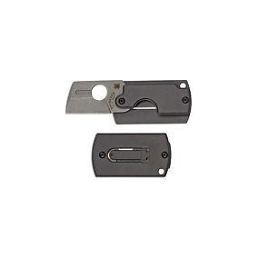Spyderco Dog Tag Folder Gen4 - Gray Aluminum - Plainedge fba9562c6a6