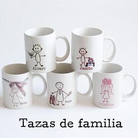 6 Tazasa De Ceramica Personalizadas La Familia Envio Gratis
