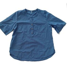 Camisa Azul A Rayas