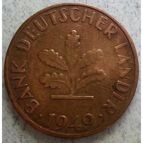 Moneda De La Rep. Fed. Alemana 10 Pfennig Año 1949 Km#103