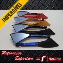Retrovisor Esportivo = Rizoma Tomok Moto Espelho Tp Original