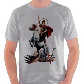 Camiseta São Jorge Santo Religião Camisa Blusa