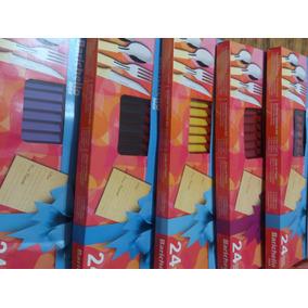 Set De Cubiertos, 24 Pcs. Inox. Barichello Lote Promocion