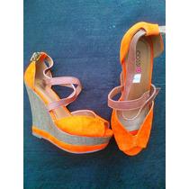 Zandalias Plataforma Naranjadas Cossi