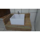 Cuba Para Banheiro Lavabo Em Acrilico Branco