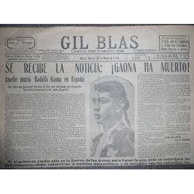 Tauromaquia Periódico De Época Noticia De Que Gaona A Muerto