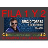 Entradas Sergio Torres Platea Fila 1 Y 2 Mercadolider Gold