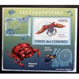 Comores Insectos, Bloque 1 Sello Coleop 1000fc 09 Mint L9316