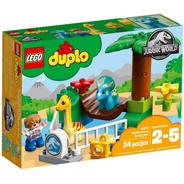 Lego Duplo Jurassic 10879 Zoo Dinosaurio Gigantes Mansos