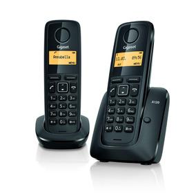 Teléfono Inalámbrico Gigaset A120 Duo Negro Tienda Oficial