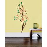 Adesivos Parede Galho E Flores Decoração Sala Quarto Nature