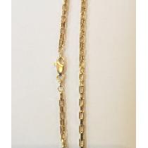 Corrente Cordão De Ouro 18k Cartier Quadrado 7 Gramas
