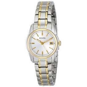 d569c00211d3 Bulova Reloj De Pulsera De Plata Con Esfera De Plata 98m105