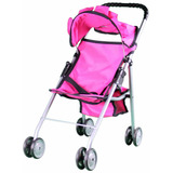 Carriola Color Rosa Para Pasear A Tu Muñeca Marca Mommy & Me