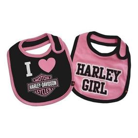 Baberos Bebé Niña 2 - Pack Harley Davidson